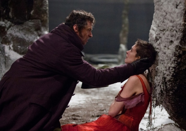 Hugh Jackman and Anne Hathaway at Check Out the Latest LES MISERABLES Film Stills Featuring Anne Hathaway, Samantha Barks and More!