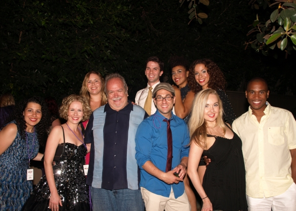 The cast with Ronn Goswick