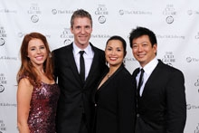 Allie Trimm, co-book writer Lorenzo Thione, Lea Salonga and Jay Kuo