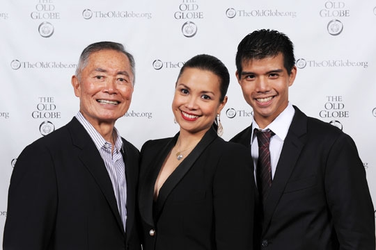 George Takei, Lea Salonga and Telly Leung at George Takei, Lea Salonga, Telly Leung and More in Opening Night of Old Globe's ALLEGIANCE!