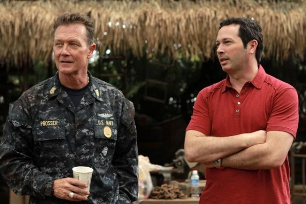 ROBERT PATRICK, KARL GAJDUSEK (EXECUTIVE PRODUCER) at Behind the Scenes of THE LAST RESORT 10/4