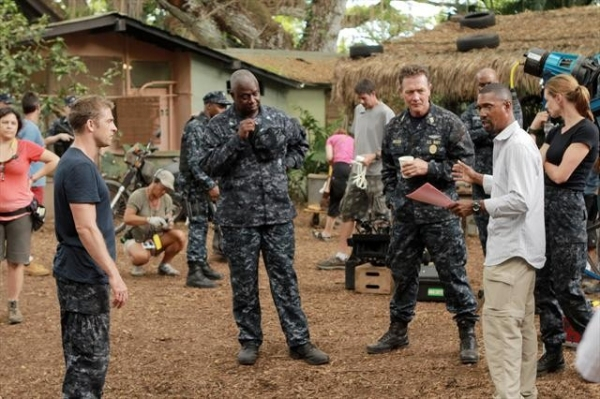 SCOTT SPEEDMAN, ANDRE BRAUGHER, ROBERT PATRICK, KEVIN HOOKS (DIRECTOR), DAISY BETTS at Behind the Scenes of THE LAST RESORT 10/4