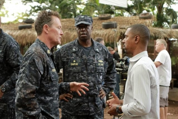 ROBERT PATRICK, ANDRE BRAUGHER, KEVIN HOOKS (DIRECTOR) at Behind the Scenes of THE LAST RESORT 10/4