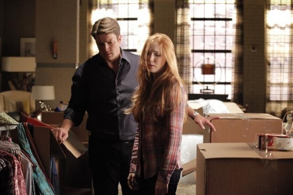 NATHAN FILLION, MOLLY QUINN at Sneak Peak at CASTLE on 10/8