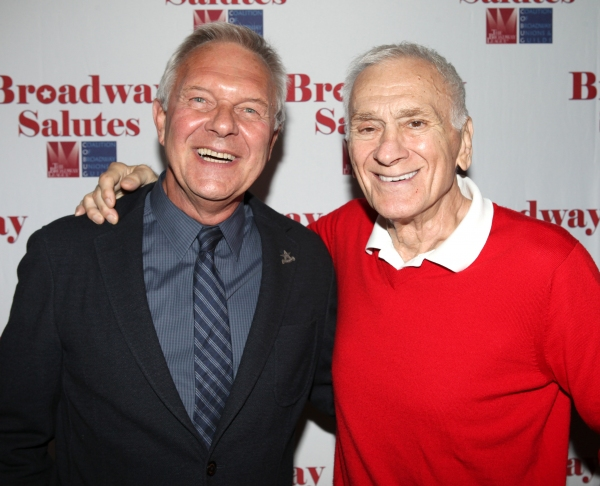 Walter Bobbie & Dick Latessa  at Hal Prince, Laura Osnes and More at BROADWAY SALUTES 2012!