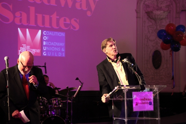 Hal Prince & Nick Wyman  at Hal Prince, Laura Osnes and More at BROADWAY SALUTES 2012!