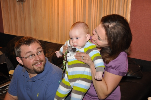 Production Assistant at all recordings of Carols For A Cure-Lisa Wojchik with her husband Mike Wojchik and baby Jackson