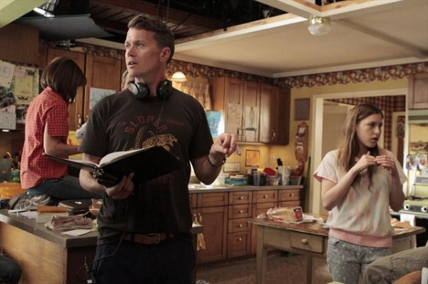 ELLIOT HEGARTY (DIRECTOR), EDEN SHER at Behind the Scenes THE MIDDLE on 10/10