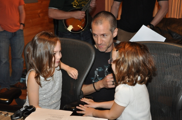 Ripley Sobo and Eliza Holland Madore get instructions from Rob Preuss (Musical Direct Photo