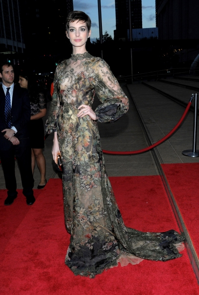 3 at Fashion Photo of the Day 9/22/12 - Anne Hathaway