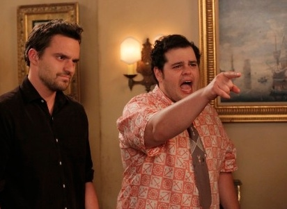 Jake Johnson, Josh Gad at First Look - Josh Gad Guests on NEW GIRL Season Premiere, 9/25