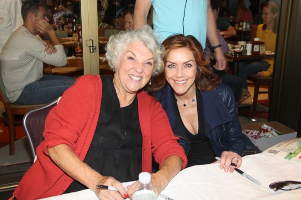 Tyne Daly and Andrea McArdle  at 2012 BC/EFA Flea Market Celebrity Tables Part One