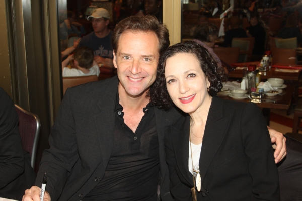 Bebe Neuwirth and Malcolm Gets  at 2012 BC/EFA Flea Market Celebrity Tables Part One