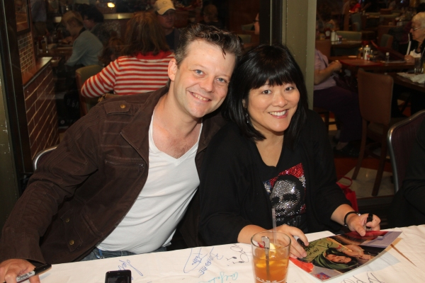 Jeremy Kushnier and Ann Harada  at 2012 BC/EFA Flea Market Celebrity Tables Part One