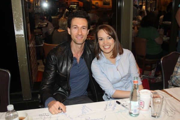 Aaron Lazar and Kara Lindsay  at 2012 BC/EFA Flea Market Celebrity Tables Part One