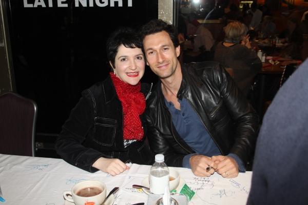 Lauren Cohn and Aaron Lazar  at 2012 BC/EFA Flea Market Celebrity Tables Part One
