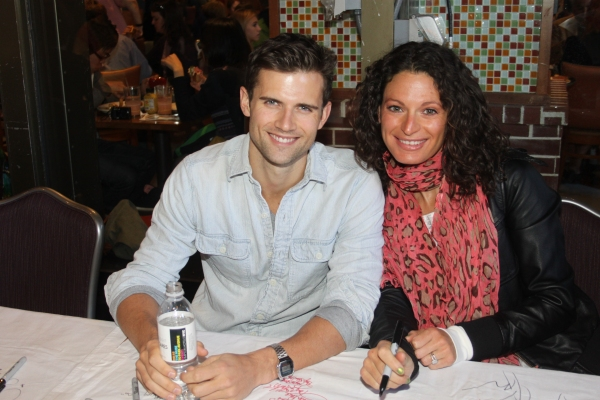 Kyle Dean Massey and Jackie Burns  at 2012 BC/EFA Flea Market Celebrity Tables Part Two