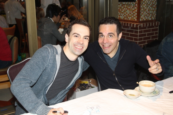 Rob McClure and Mario Cantone  at 2012 BC/EFA Flea Market Celebrity Tables Part Two