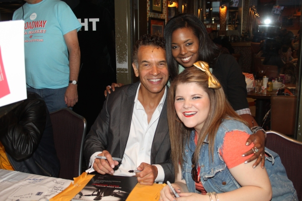 Brian Stokes Mitchell, Adrienne Warren and Ryann Redmond  at 2012 BC/EFA Flea Market Celebrity Tables Part Two