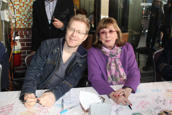Anthony Rapp and Phyllis Newman at 2012 BC/EFA Flea Market Celebrity Tables Part Two