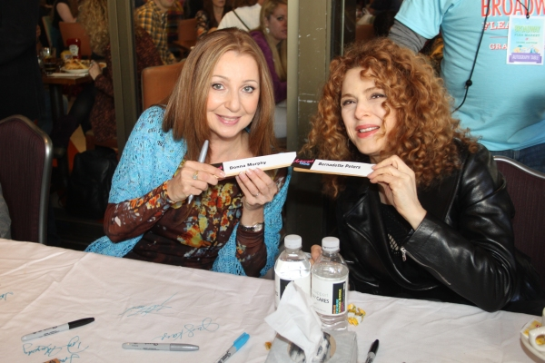 Donna Murphy and Bernadette Peters  at 2012 BC/EFA Flea Market Celebrity Tables Part Two