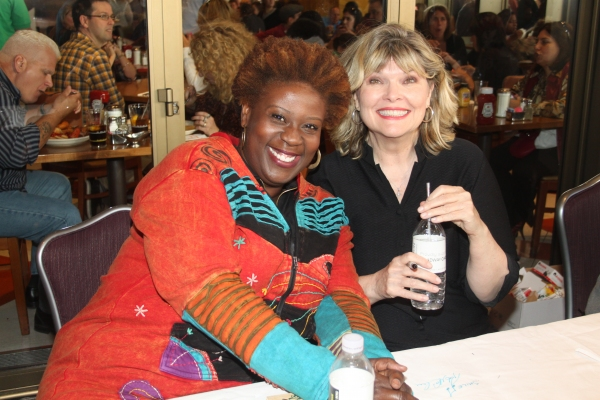 Capathia Jenkins and Debra Monk  at 2012 BC/EFA Flea Market Celebrity Tables Part Two