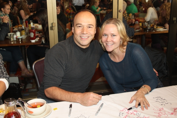 Danny Burstein and Rebecca Luker  at 2012 BC/EFA Flea Market Celebrity Tables Part Two
