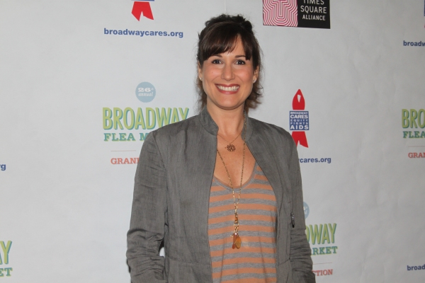 Stephanie J. Block  at 2012 BC/EFA Flea Market - Celebrities Backstage