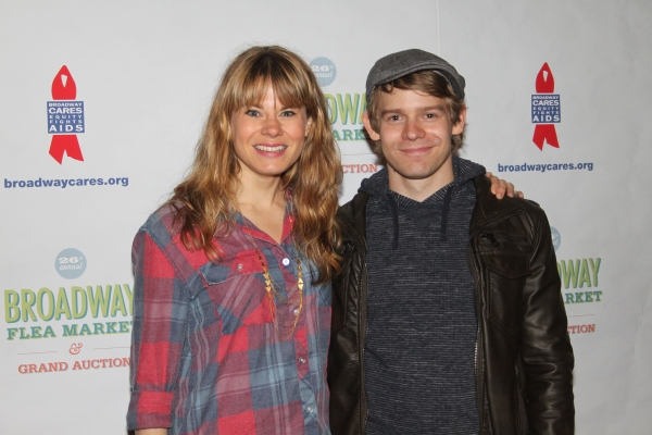 Celia Keenan-Bolger and Andrew Keenan-Bolger  at 2012 BC/EFA Flea Market - Celebrities Backstage