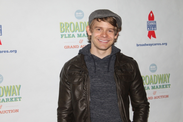 Andrew Keenan-Bolger  at 2012 BC/EFA Flea Market - Celebrities Backstage