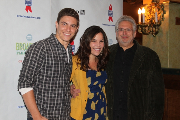 Derek Klena, Lindsay Mendez and Harvey Fierstein  at 2012 BC/EFA Flea Market - Celebrities Backstage