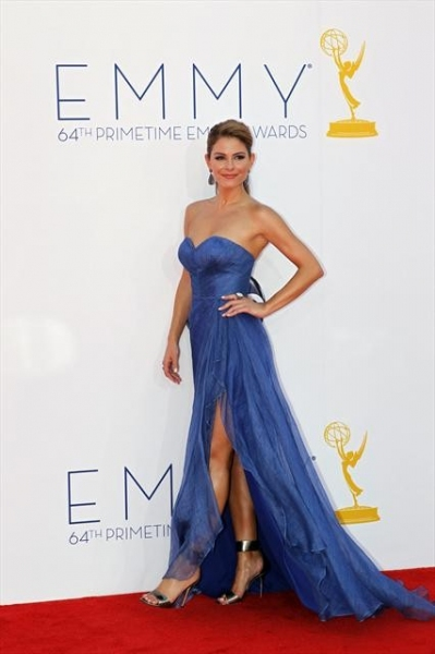THE 64TH PRIMETIME EMMY(r) AWARDS - The 64th Primetime Emmy Awards broadcasts live from 8:00-11:00 p.m., ET/5:00-8:00 p.m., PT., Sunday, September 23, 2012 exclusively on ABC. (ABC/RICK ROWELL)MARIA MENOUNOS