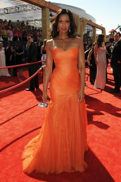 PADMA LAKSHMI at 2012 Emmys Red Carpet - Part 1