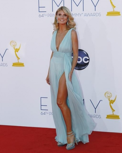 THE 64TH PRIMETIME EMMY(r) AWARDS - The 64th Primetime Emmy Awards broadcasts live from 8:00-11:00 p.m., ET/5:00-8:00 p.m., PT., Sunday, September 23, 2012 exclusively on ABC. (ABC/RICK ROWELL)HEIDI KLUM at 2012 Emmys Red Carpet - Part 2