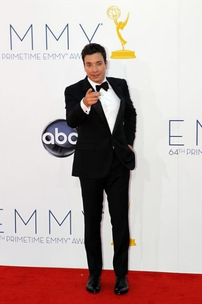 THE 64TH PRIMETIME EMMY(r) AWARDS - The 64th Primetime Emmy Awards broadcasts live from 8:00-11:00 p.m., ET/5:00-8:00 p.m., PT., Sunday, September 23, 2012 exclusively on ABC. (ABC/RICK ROWELL)JIMMY FALLON at 2012 Emmys Red Carpet - Part 2