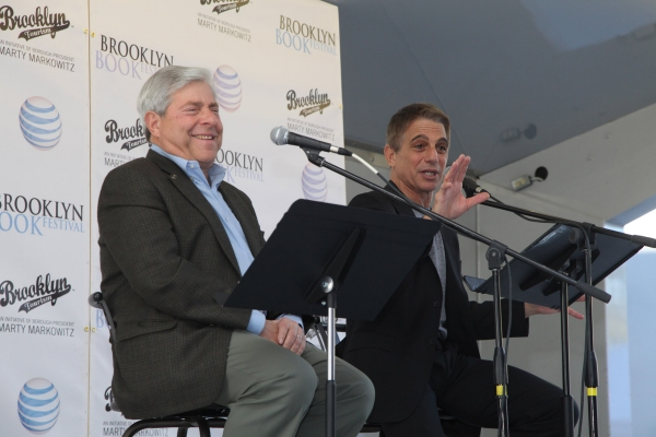 Brooklyn Borough President Marty Markowitz in conversation with Tony Danza at BP Markowitz and Tony Danza at the 7th Annual Brooklyn Book Festival