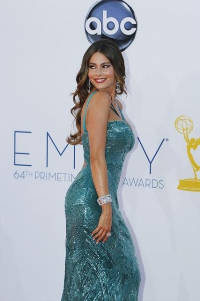 THE 64TH PRIMETIME EMMY(r) AWARDS - The 64th Primetime Emmy Awards broadcasts live from 8:00-11:00 p.m., ET/5:00-8:00 p.m., PT., Sunday, September 23, 2012 exclusively on ABC. (ABC/RICK ROWELL)SOFIA VERGARA at 2012 Emmys Red Carpet - Part 3