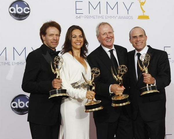 THE 64TH PRIMETIME EMMY(r) AWARDS - The 64th Primetime Emmy Awards broadcasts live from 8:00-11:00 p.m., ET/5:00-8:00 p.m., PT., Sunday, September 23, 2012 exclusively on ABC. (ABC/RICK ROWELL)JERRY BRUCKHEIMER, ELISE DOGANIERI, BERTRAM VAN MUNSTER, JONA