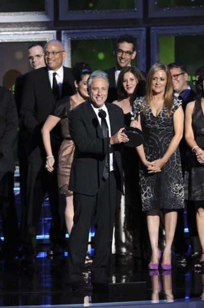 THE 64TH PRIMETIME EMMY(r) AWARDS - The 64th Primetime Emmy Awards broadcasts live from 8:00-11:00 p.m., ET/5:00-8:00 p.m., PT., Sunday, September 23, 2012 exclusively on ABC. (ABC/TODD WAWRYCHUK)JON STEWART