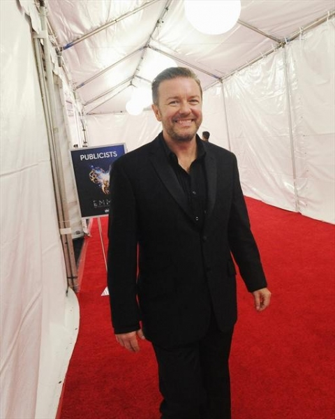 THE 64TH PRIMETIME EMMY(r) AWARDS - The 64th Primetime Emmy Awards broadcasts live from 8:00-11:00 p.m., ET/5:00-8:00 p.m., PT., Sunday, September 23, 2012 exclusively on ABC. (ABC/RICHARD HARBAUGH)RICKY GERVAIS