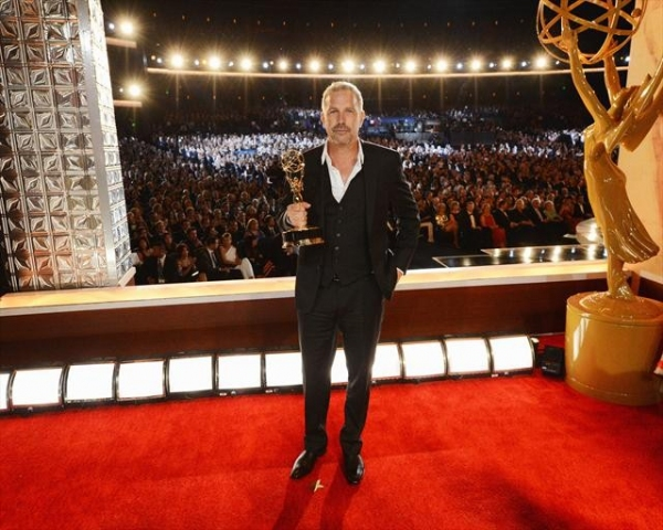 THE 64TH PRIMETIME EMMY(r) AWARDS - The 64th Primetime Emmy Awards broadcasts live from 8:00-11:00 p.m., ET/5:00-8:00 p.m., PT., Sunday, September 23, 2012 exclusively on ABC. (ABC/MATT BROWN)KEVIN COSTNER at Inside the 2012 Emmy Awards - Part Three!