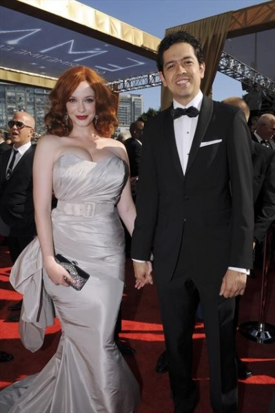 THE 64TH PRIMETIME EMMY(r) AWARDS - The 64th Primetime Emmy Awards broadcasts live from 8:00-11:00 p.m., ET/5:00-8:00 p.m., PT., Sunday, September 23, 2012 exclusively on ABC. (ABC/MATT PETIT)CHRISTINA HENDRICKS, GEOFFREY AREND at Emmy Red Carpet Fashion Favorites!