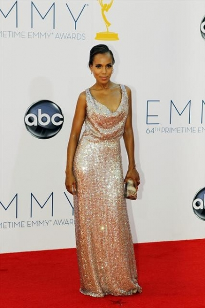 THE 64TH PRIMETIME EMMY(r) AWARDS - The 64th Primetime Emmy Awards broadcasts live from 8:00-11:00 p.m., ET/5:00-8:00 p.m., PT., Sunday, September 23, 2012 exclusively on ABC. (ABC/RICK ROWELL)KERRY WASHINGTON at Emmy Red Carpet Fashion Favorites!