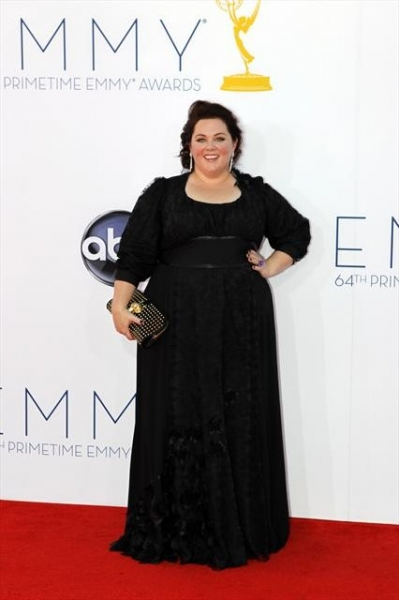 THE 64TH PRIMETIME EMMY(r) AWARDS - The 64th Primetime Emmy Awards broadcasts live from 8:00-11:00 p.m., ET/5:00-8:00 p.m., PT., Sunday, September 23, 2012 exclusively on ABC. (ABC/RICK ROWELL)MELISSA MCCARTHY at Emmy Red Carpet Fashion Favorites!