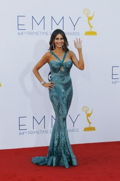 THE 64TH PRIMETIME EMMY(r) AWARDS - The 64th Primetime Emmy Awards broadcasts live from 8:00-11:00 p.m., ET/5:00-8:00 p.m., PT., Sunday, September 23, 2012 exclusively on ABC. (ABC/RICK ROWELL)SOFIA VERGARA at Emmy Red Carpet Fashion Favorites!