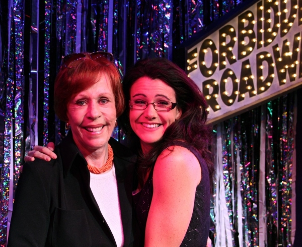 Carol Burnett and Natalie Charlé Ellis at Carol Burnett Visits FORBIDDEN BROADWAY!