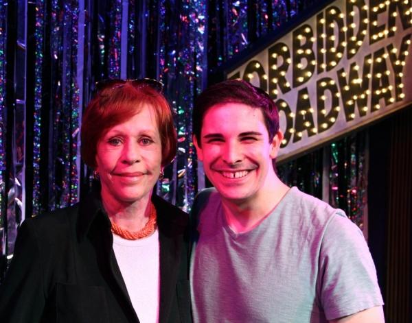 Carol Burnett and Marcus Stevens at Carol Burnett Visits FORBIDDEN BROADWAY!