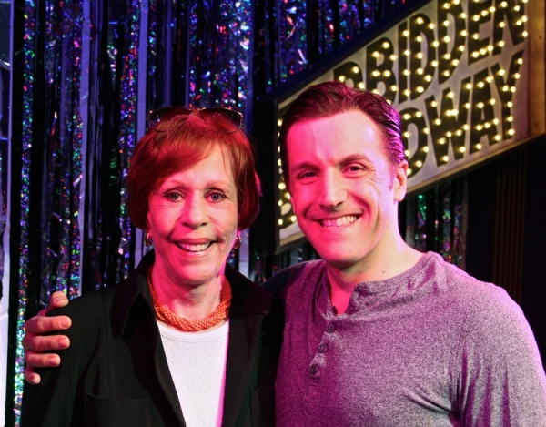 Carol Burnett and Scott Richard Foster at Carol Burnett Visits FORBIDDEN BROADWAY!
