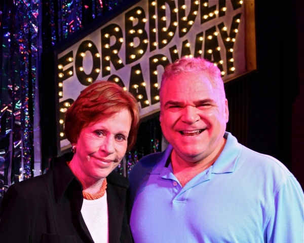Carol Burnett and the shows creator, writer and director Gerard Alessandrini at Carol Burnett Visits FORBIDDEN BROADWAY!