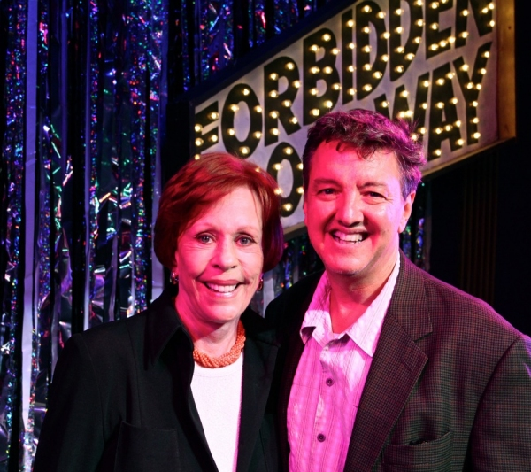 Carol Burnett and Forbidden Broadway producer John Freedson at Carol Burnett Visits FORBIDDEN BROADWAY!